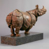 "Indian Rhino (30"") by Nick Bibby"