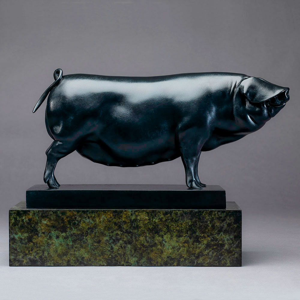Large Black Pig (Ingrid) by Nick Bibby