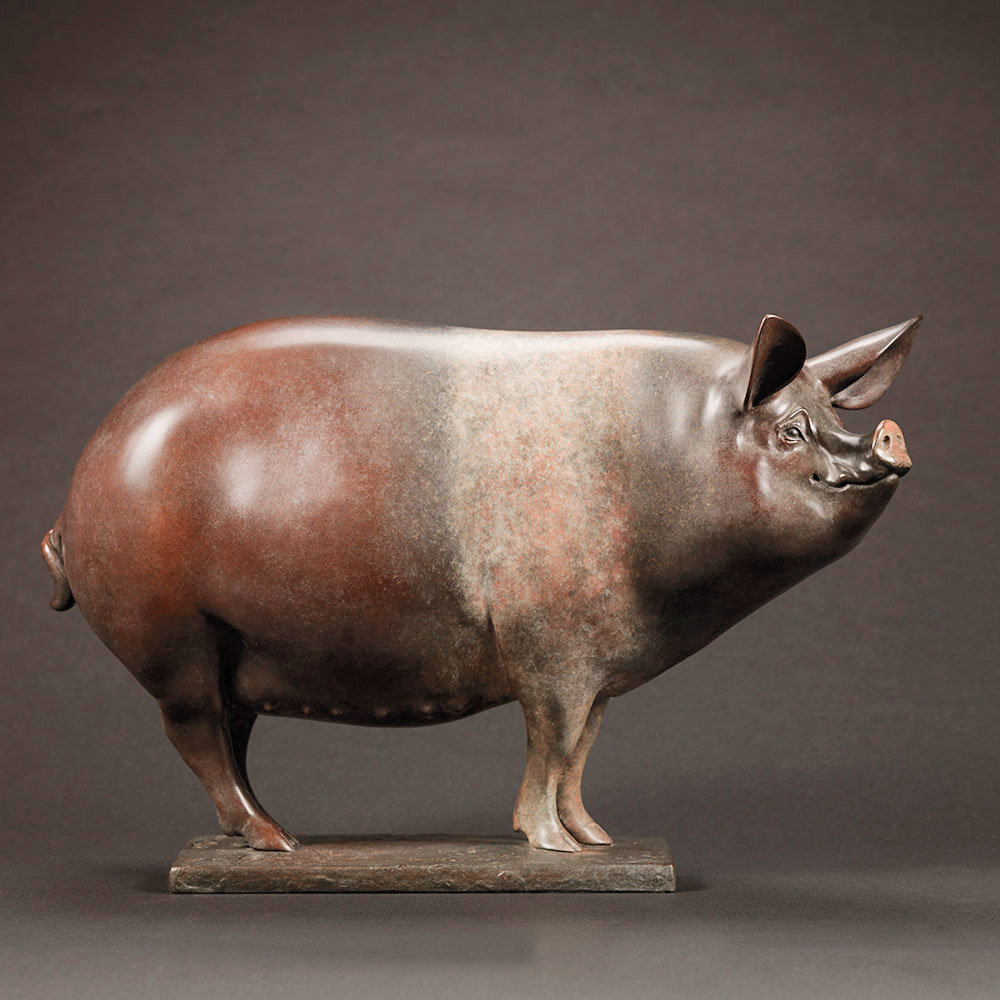 Saddleback Pig (Happy Sow) by Nick Bibby