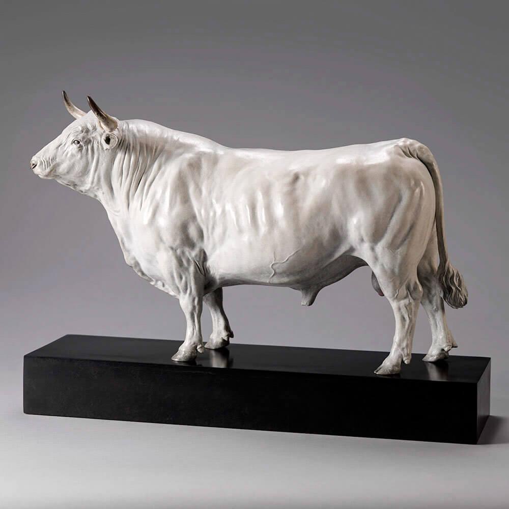 White Park Bull (Ash Nik-Nak) by Nick Bibby