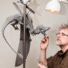 Firedrake Dragon Maquette by Nick Bibby (Original Wax in Progress)