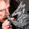 Imperial Griffin Maquette by Nick Bibby (Original Wax in progress)