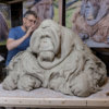Life Size Sumatran Orangutan (Original Clay in progress) by Nick Bibby