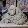 Life Size Sumatran Orangutan (Original Clay in progress) by Nick Bibby