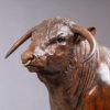 "British Longhorn Bull (Blackbrook Philosopher - 40"") by Nick Bibby"