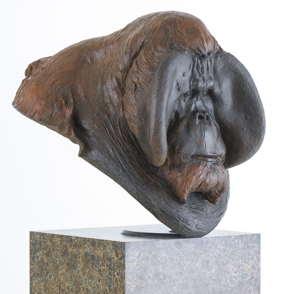 "Orangutan Bust ""Old Man of the Woods"" by Nick Bibby"