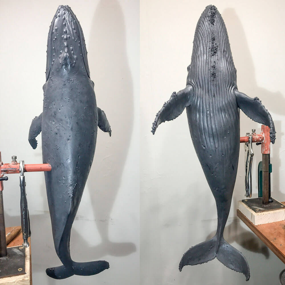 Humpback Whale (original wax) by Nick Bibby