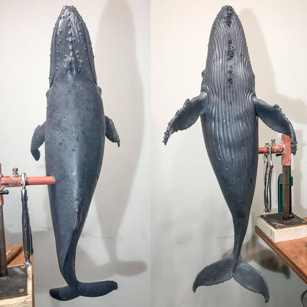 Humpback Whale (original wax) by Nick Bibby